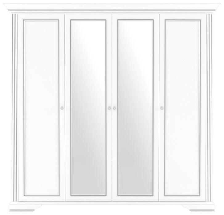 Шкаф для вещей Вайт 4D(2S) ясень снежный/сосна серебряная
