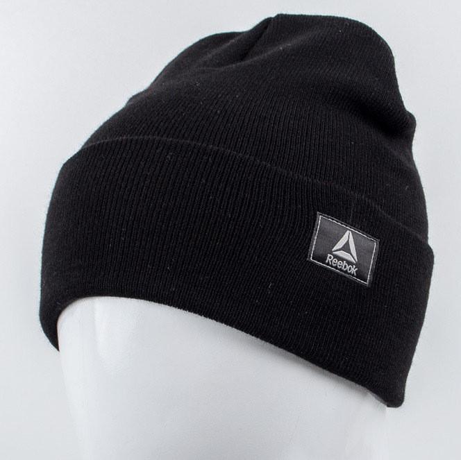 Молодежная шапка Рожки Reebok (реплика) черный