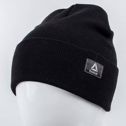 Молодежная шапка Рожки Reebok (реплика) черный, фото 2