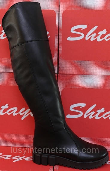 Ботфорты зимние женские на маленькой платформе, ботфорты женские зима от производителя модель СТС28