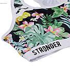 Лосины для фитнеса леггинсы для спорта принт тропики-джунгли  №43 (S), фото 5