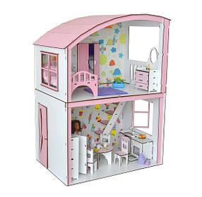 Будиночок для ляльок Барбі 3123 Затишна вілла з меблями, шпалерами і текстилем. 2 поверхи