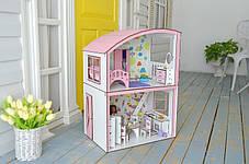 Домик для кукол Барби 3123 Уютная вилла с мебелью, обоями и текстилем. 2 этажа, фото 2