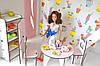 Домик для кукол Барби 3123 Уютная вилла с мебелью, обоями и текстилем. 2 этажа, фото 3