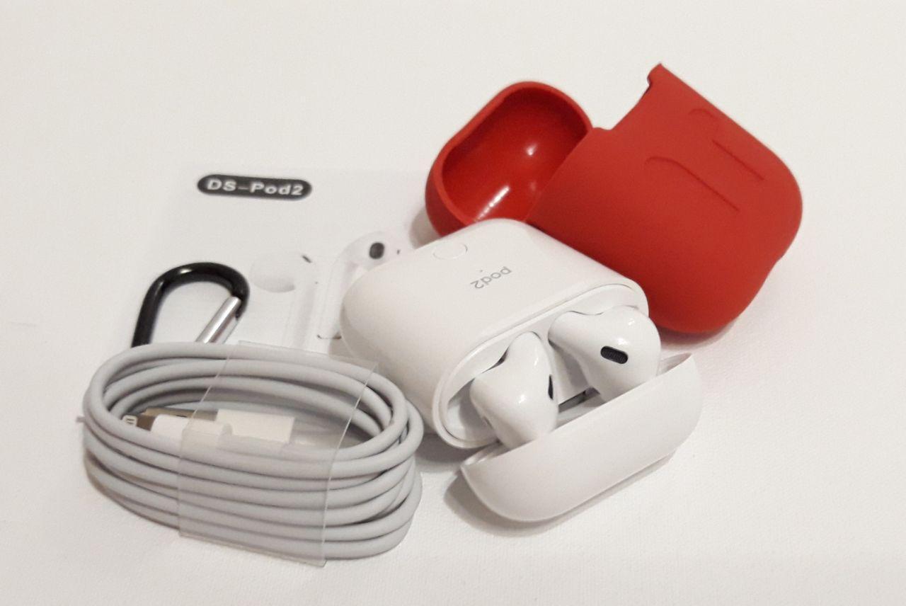 Беспроводные блютуз наушники AirPods DS-POD2 с кейсом С всплывающим окном на телефоне, беспроводной зарядкой