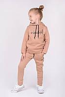 Спортивный костюм для девочки 3-х нитка  358 (Горчичный 116)