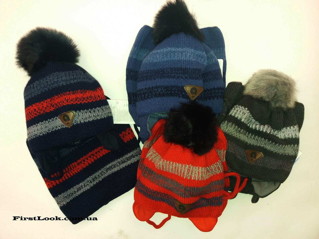 Детский зимний комплект шапка и снуд  для мальчика.Польша(2-4 года)