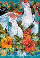 Пазлы на 1500 элементов Белые попугаи Сastorland