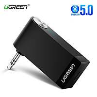 Беспроводной Bluetooth 5.0 приемник Ugreen с AUX выходом 3.5 мм с микрофоном для автомагнитол