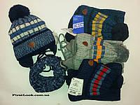 Детский зимний комплект шапка и снуд на мальчика.Польша(4-6 лет)