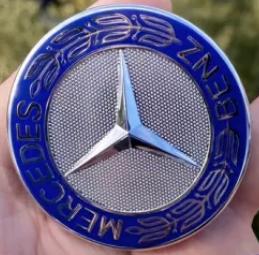 Эмблема Mercedes 57 мм на капот w124(рестайл)/w210/w202/w203 /w204/w140/w211/w221/w220