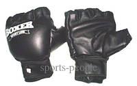 Перчатки для тхэквондо BOXER, кожа, размеры: M, L, XL, черные.