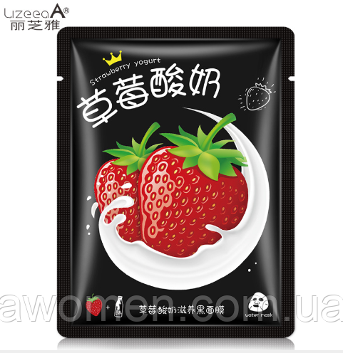 Маска для лица LizeeaA Strawberry Milk клубника с йогуртом 30 g