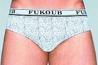 Трусы мужские, брифы, хлопок,с открытой неширокой резинкой, FukoUB 8106