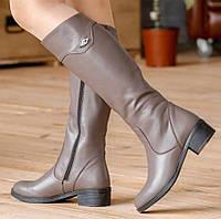 Женские кожаные и замшевые сапоги. Размеры 36 - 40