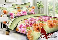 ✅ Двуспальный комплект постельного белья с 3D(3Д) эффектом (Полисатин) TAG PS-B5692