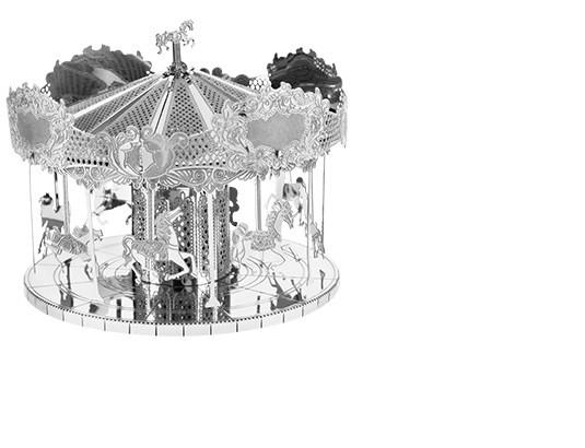 Металлический 3D конструктор Карусель