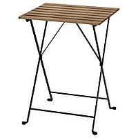 IKEA Садовый стол, черный, серо-коричневая морилка