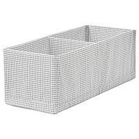 IKEA Ящик с отделениями, белый / серый
