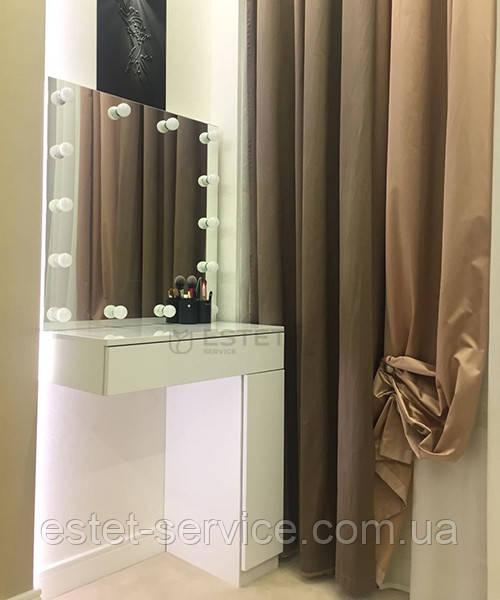 Макияжный столик с подвесным зеркалом и стоящей тумбой ES130