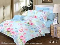 ✅ Двуспальный Евро комплект постельного белья (Люкс-сатин) TAG S312