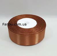 """Лента атласная цвет""""какао"""" однотонная (ширина 2.5см)1 рул-22м, фото 1"""