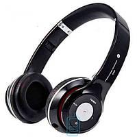 Bluetooth наушники с микрофоном MP3 FM S460 черные