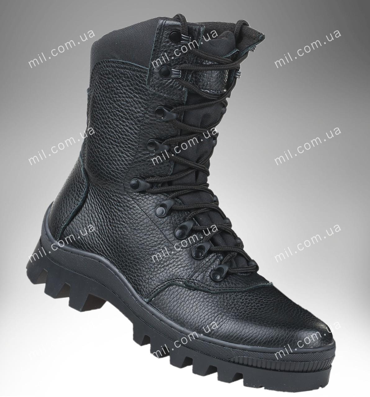Берцы демисезонные / военная, рабочая обувь БИЗОН (черный)
