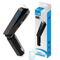 FM модулятор трансмиттер Bluetooth N9 черно-серебристый
