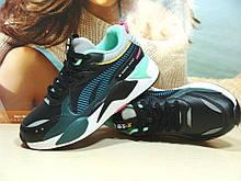 Женские кроссовки BaaS RS-X черно-зеленые 39 р.
