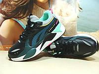 Женские кроссовки BaaS RS-X черно-зеленые 40 р., фото 1