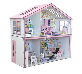 Коттедж для кукол Барби с мебелью и текстилем