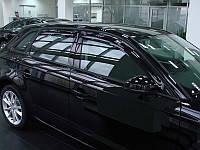 Дефлекторы окон (ветровики) AUDI A3/S3, 2004-2012, 4ч., темный