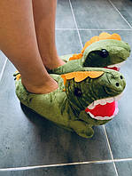 ✅ Детские тапочки Кигуруми Динозавр зеленый (дракон,  крокодил)