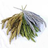 Ель в глиттере зеленая  38 см( 2 шт в уп), фото 2