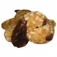 Мягкая игрушка собака коричневое ухо 56 см