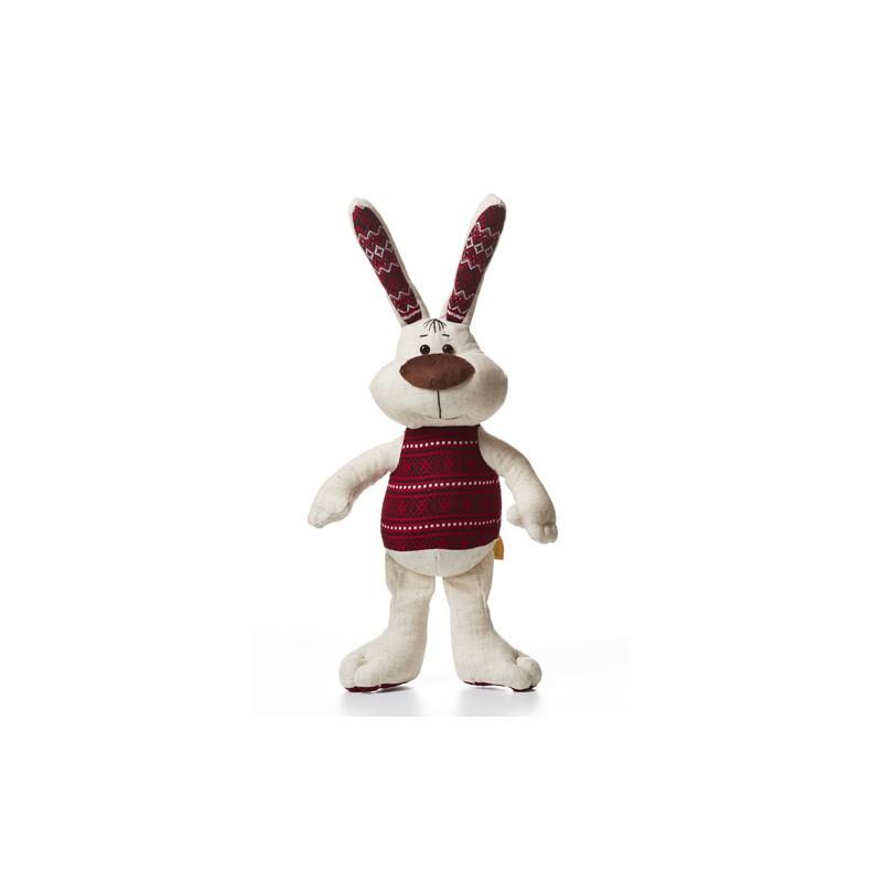 Мягкая игрушка заяц Хвалько