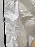 Куртка белая женская  с ромбовидными узорами, сезон осень-зима, фото 8