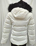 Куртка белая женская  с ромбовидными узорами, сезон осень-зима, фото 10