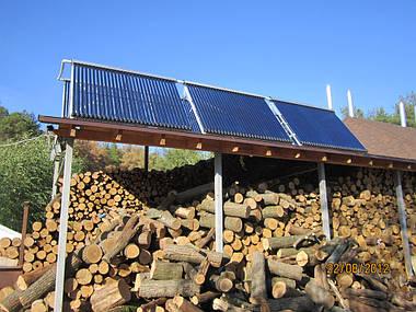 Установка системы горячего водоснабжения на базе солнечных коллекторов в пос. Подворки