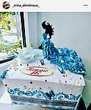 Топпер стоїть дівчина силует в торт, заготівля для прикраси торта, фігурка на торт силует дівчини, заготівля, фото 3