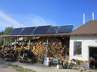 Установка системы горячего водоснабжения на базе солнечных коллекторов