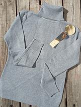 Гольф женский зимний базовый серый Milano Zone Милано с высоким горлом и манжетами L   XL 46 48 50, фото 3