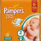 Подгузники Pampers sleep&play 2 3-6 кг 1 шт. памперс слип энд плей