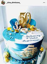 Цифра 50 золота на торт Золота цифра 50 на торт Топпер цифра 50 Цифра в блискітках