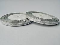 Стрічка парчова 0,6см срібного кольору