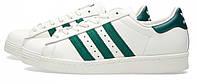 Кроссовки Adidas Superstar 80 S белые с зеленым, фото 1