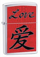 Зажигалка Zippo 24263 Chinese Symbol Love (Китайский иероглиф любовь)