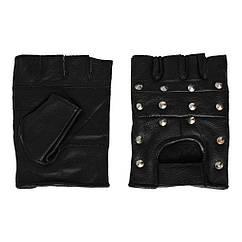 Перчатки кожаные First с заклепкой шип, Размер M