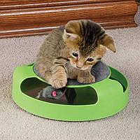 Когтеточка с игрушкой для кошек Сatch the mouse Зеленая